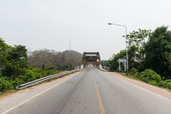 Street and bridge Royalty Free Stock Photography