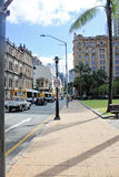 Street in Brisbane, South Bank, Australia on sunny bright day, 9. November 2011 Royalty Free Stock Photography