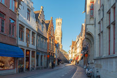 Street in Bruges Stock Photos