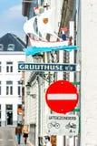 Street in Brugge, Belgium Stock Photo