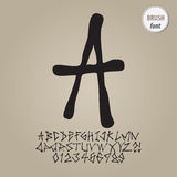 Street Brush Alphabet and Digit Vector Royalty Free Stock Photo