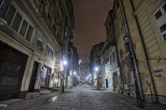 Street in Bucharest - Night scene Stock Images