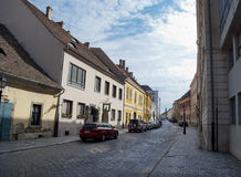 Street of Buda in Budapest Royalty Free Stock Image