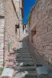 Street and buildings of Assisi, Italy royalty free stock photography