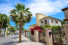 The street and buildings on Mallorca island. Spain Stock Photography