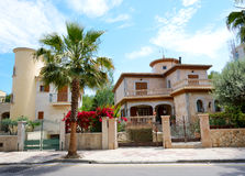 The street and buildings on Mallorca island Royalty Free Stock Images