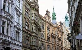 Street buildings in Prague Royalty Free Stock Photo
