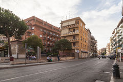 Street and buildings in Rome royalty free stock photos