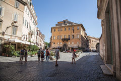 Street and buildings in Rome stock images
