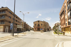 Street and buildings of Santo Domingo de la Calzada, Spain Stock Photo
