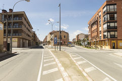 Street and buildings of Santo Domingo de la Calzada, Spain Royalty Free Stock Photo