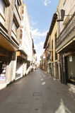 Street and buildings of Santo Domingo de la Calzada, Spain Stock Image