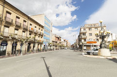 Street and buildings of Santo Domingo de la Calzada, Spain Stock Photography