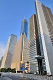 Street and buildings in Shanghai business center Stock Photography