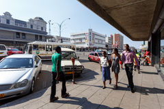 Street in Bulawayo Zimbabwe. ZIMBABWE, BULAWAYO, OCTOBER 27: Peoples on street in the second largest city in Zimbabwe, October 27, 2014, Zimbabwe Stock Photos