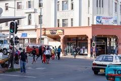 Street in Bulawayo Zimbabwe. ZIMBABWE, BULAWAYO, OCTOBER 27: Peoples on street in the second largest city in Zimbabwe, October 27, 2014, Zimbabwe Stock Photo