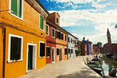 Street on Burano Island Stock Photos