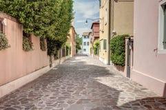 A street in Burano island, venice, Italy Stock Photos