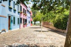 A street in Burano island, venice, Italy Stock Image