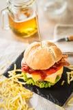 Street burger Royalty Free Stock Photo