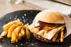 Street burger Stock Photography