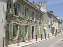 Street in Burgundy town stock image