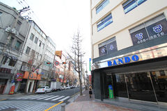 Street in busan south korea Royalty Free Stock Photo