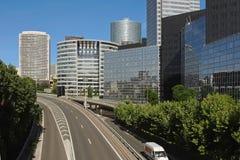 Street Through Business District Stock Photo