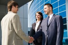 Street business meeting Royalty Free Stock Photography