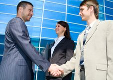 Street business meeting Stock Photography