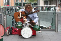 Street busker Stock Photos