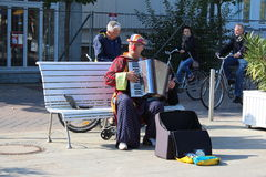 Street busker Royalty Free Stock Image