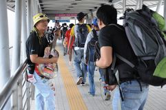 Street Busker in Kuala Lumpur Royalty Free Stock Photo