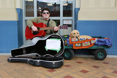 Street busker Royalty Free Stock Photo