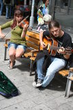 Street buskers Stock Images