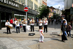 Street busking band. Royalty Free Stock Photography