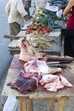 Street Butcher, Cuba Stock Images
