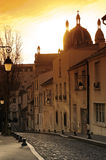 Street in Butte aux cailles area in Paris Stock Photo