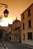 Street in Butte aux cailles area in Paris Royalty Free Stock Photography