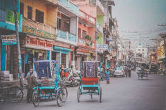 Street in Butwal stock photography