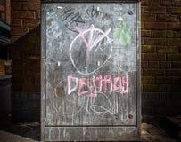 Street Cabinet Graffiti Stock Images