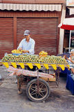Street cactus fruit seller Royalty Free Stock Images