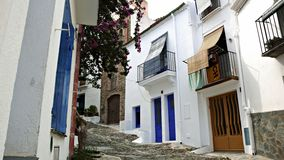 Street of Cadaqués Royalty Free Stock Photos
