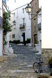Street in Cadaques, Catalonia royalty free stock photo