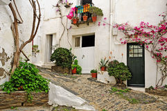 A street of Cadaques, Spain Stock Photo