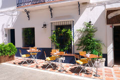 Street Café, Marbella Royalty Free Stock Photography