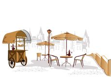 Street cafe Royalty Free Stock Photography