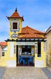 Street Cafe with azulejo, Sintra royalty free stock photos