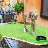 Street cafe bar, Sighisoara Royalty Free Stock Images