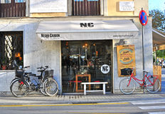 Street cafe in Barcelona, Spain Royalty Free Stock Images